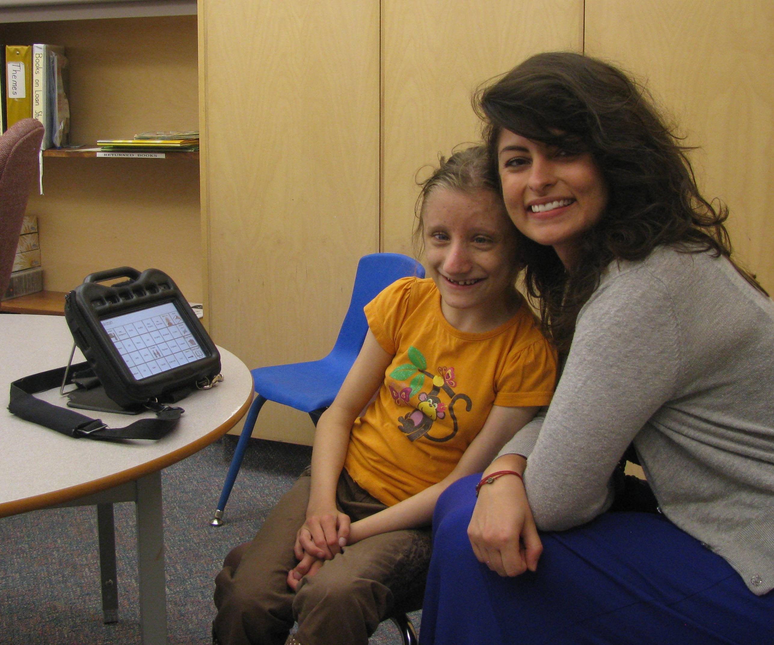 Maddy & her Speech Language Pathologist, Aly